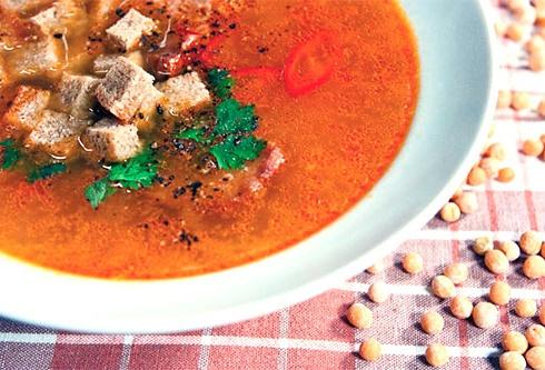 Рецепт приготовления горохового супа с копченостями