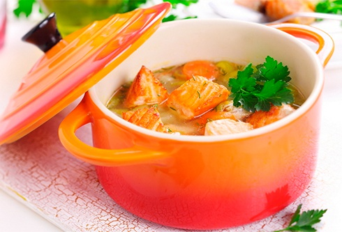Суп из стейка сёмги рецепт пошагово