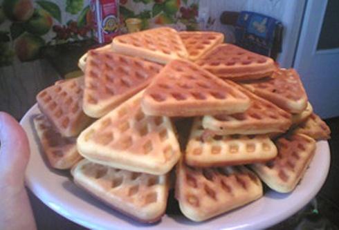 рецепт вафельных печеньев